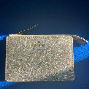 NWOT Kate Spade glitter key pouch cardholder